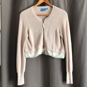 Vera Wang cropped sweater